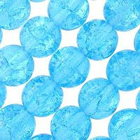 Czech Glass 6m Crackle - Aquamarine