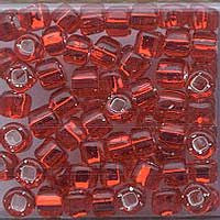 Japanese Seed Beads Size 6-011A - Silverlined Ruby