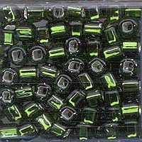 Japanese Seed Beads Size 6-015 - Silverlined Olivine