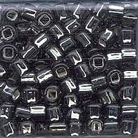 Japanese Seed Beads Size 6-021 - Silverlined Black Diamond