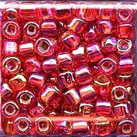 Japanese Seed Beads Size 6-638 - Silverlined Rainbow - Ruby