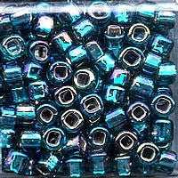 Japanese Seed Beads Size 6-643 - Silverlined Rainbow - Teal