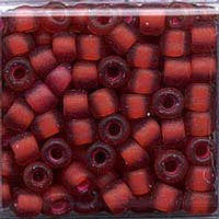 Japanese Seed Beads Size 6 - F373A Transparent Matte - Red