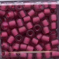 Japanese Seed Beads Size 6 - F399D Transparent Matte - Magenta