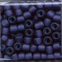 Japanese Seed Beads Size 6 - F399H Transparent Matte - Dark Blue