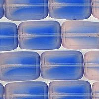 Czech Glass Rectangle - Lt.Pink/Blue