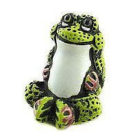 Ceramic Animals - Green Froggy Relax