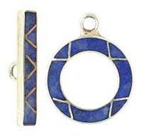 Silver Toggle Clasp - 20m Lapis