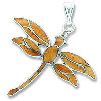 Sterling Dragonfly - Orange Sponge Coral