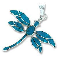 Sterling Dragonfly - Blue Turquiose