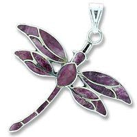 Sterling Dragonfly - Purple Sponge coral