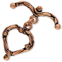 Copper - 18x25mm Heart Toggle - 1 set