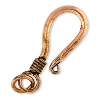 Copper - 11x27mm Hook & Eye - 1 set