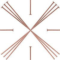 Copper - Headpins - 50pcs