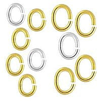 Plated - Oval Jumprings - 100pcs