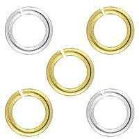 Plated - 0020-08 5m Jump Rings - 50pcs