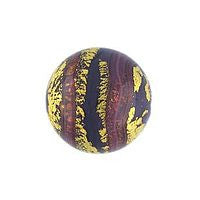Lampwork Czech - 12mm Baroque Round - Opaque Purple
