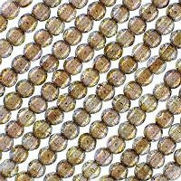 Czech Glass 3m Round - Luster Gold/Smoky Topaz