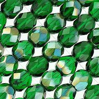 Czech Glass - 6mm Firepolish - Special Colors - Celsian Emerald