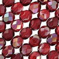 Czech Glass - 6mm Firepolish - Special Colors - Celsian Ruby