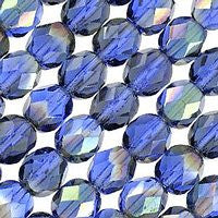 Czech Glass - 6mm Firepolish - Special Colors - Celsian Sapphire