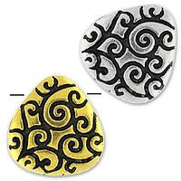 5669 - Briolette Scroll Bead 2 pcs/per pack