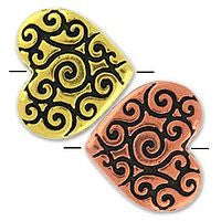 5672 - Heart Scroll Bead 2 pcs/per pack