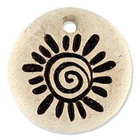 Ceramic Pendants - Swirl Sun - Natural - 25m