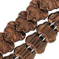 Czech Glass 13m 2 Hole Maple Leaves - Dark Bronze