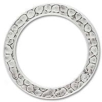 3095 1 Inch Hammered Ring 2 pcs/per pack
