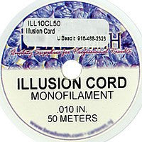 Illusion Cord .010 inch - 50 Meters - Clear Monofilament