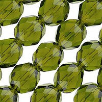 Czech Glass - 8mm Firepolish - Plain Colors - Dark Olivine