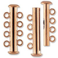 Plated - 4 Strand Slide Clasp - 2 sets per pack