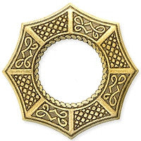 Antique Brass - Circle - 48mm Celtic Octagon