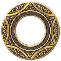 Antique Brass - Circle - 26mm Asian Hexagon