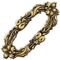 Antique Brass - Frame - 41x93mm Large Flower