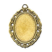 Antique Brass - Frame - 30x46mm Small Oval