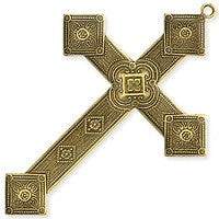 Antique Brass - Charm - 55x80mm Diamond Cross
