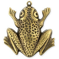Antique Brass - Charm - 23x26m Frog