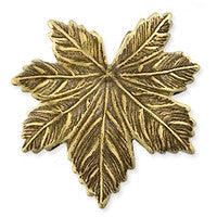 Antique Brass - No hole Charm - 23x24mm Sm Maple Leaf
