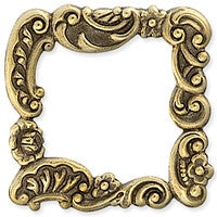 Antique Brass - Frame - 29x29mm Sm Floral