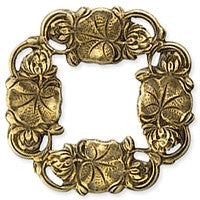 Antique Brass - Frame - 25x25mm Lilypad Wreath