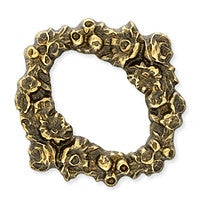 Antique Brass - Frame - 25x25mm Rose Wreath