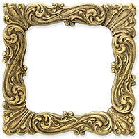 Antique Brass - Frame - 48x48mm Large Scallop