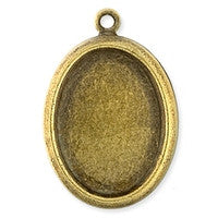 Antique Brass - Frame - 18x13mm Oval