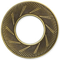 Antique Brass - Circle - 32mm Textured Ring
