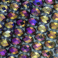Chinesse Crystal - 14x18m Rondels - Purple Iris - 12 pcs