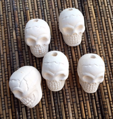 Ceramic Unglazed - Large Skulls - 5 Pcs