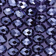 Chinese Crystal - 14x18m Rondels - Tanzanite - 12 pcs
