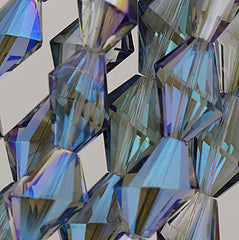 Chinese Crystal - 17x20m Shape - Blue Iris - 10 pcs